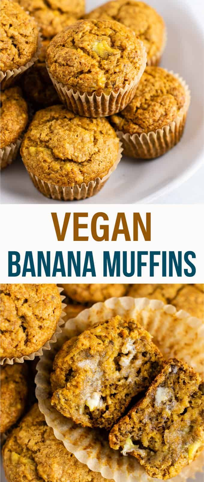 Healthy And Easy Vegan Banana Muffins Recipe With Applesauce These Are Amazing And Totally Oi Vegan Banana Muffins Banana Muffin Recipe Vegan Muffins Healthy
