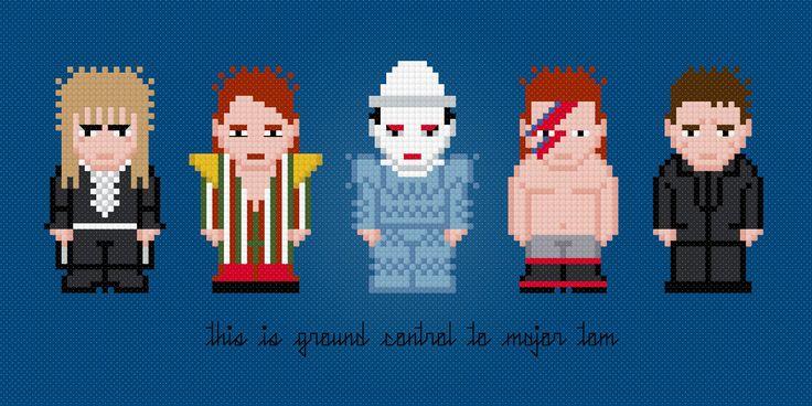 David Bowie Digital PDF Cross Stitch by AmazingCrossStitch