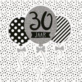 Verjaardagskaarten leeftijd - Verjaardag-dertig-grijs