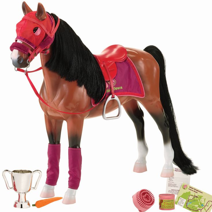 Our Generation thoroughbred horses are strong and powerful. 18-inch Our Generation dolls with a competitive spirit will love to have a loyal thoroughbred horse.