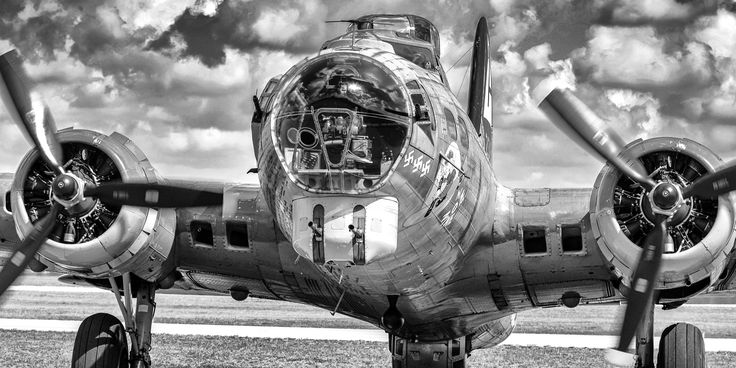 Boeing B17 Flying Fortress bomber plane vintage aviation wall decor print from the Vintage Poster Company