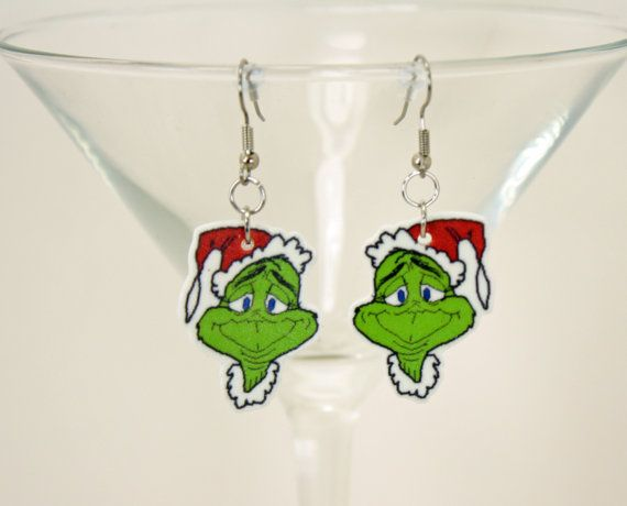 The Grinch Who Stole Christmas Earrings - Dr. Seuss (SD) (FS) - Whoville - Max - Suess - Cindy Lou