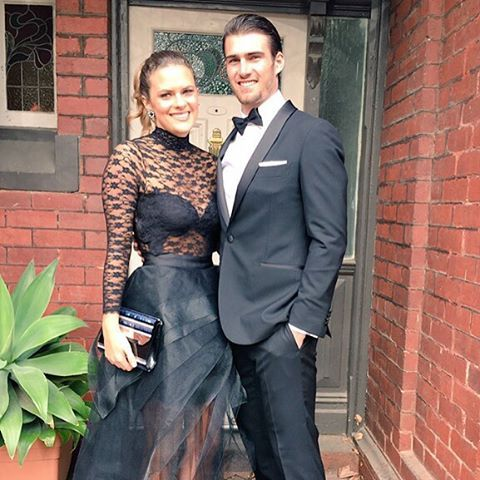 Easton Wood, Western Bulldogs in the Montgomerie Black Tux: http://www.mjbale.com/mens-suits/tuxedos/montgomerie-black-tux-22612