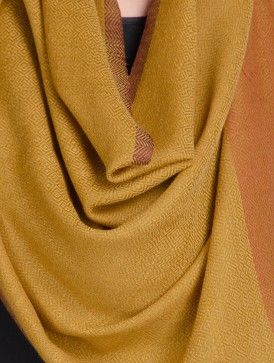 Brown Wool Handwoven Stole