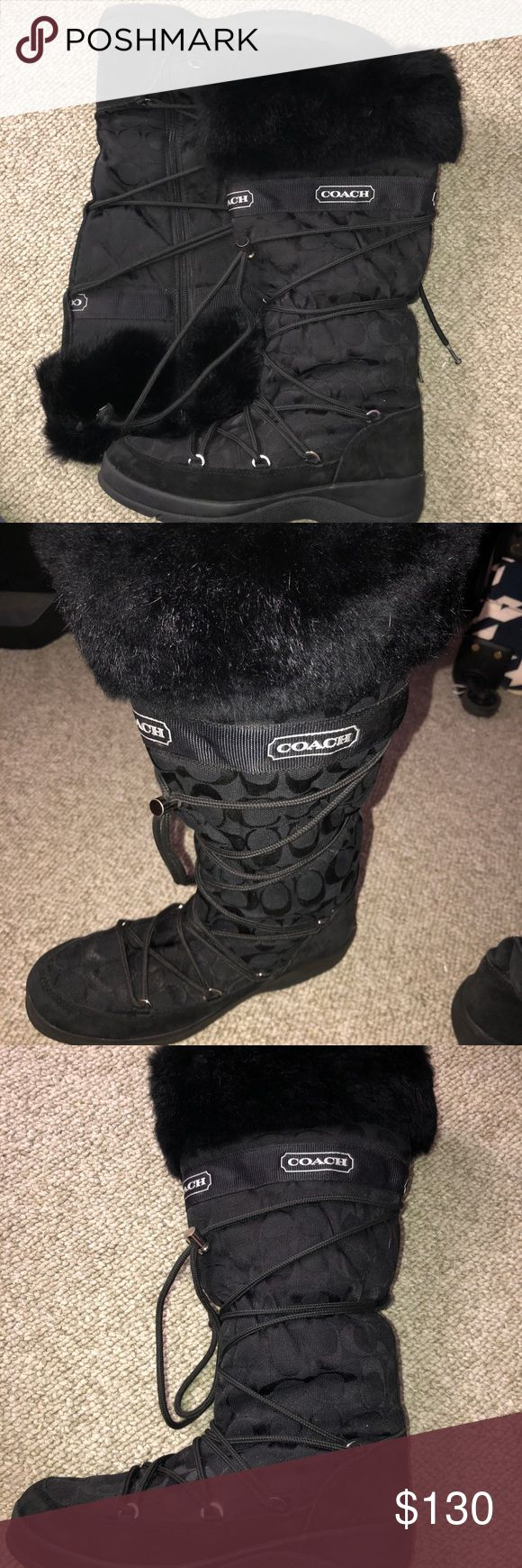 Coach Boots Size 8.5 100% authentic Black Coach Boots size 8.5.  Perfect winter boots! They're super comfortable and warm.  In great condition. Coach Shoes Winter & Rain Boots
