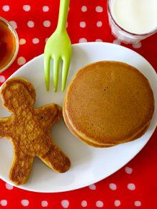 Gingerbread Pancakes- So yummy!  Swapped out all purpose flour for whole wheat flour and it was STILL delicious.  Misprint in her recipe instructions- the brown sugar should be combined with the wet ingredients (not the dry).