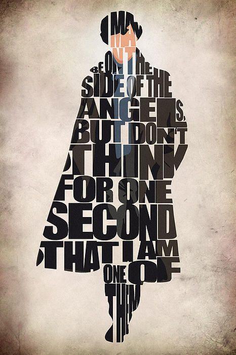 Sherlock - Benedict Cumberbatch Print By Ayse Toyran