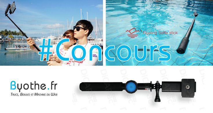 Concours : une perche à selfie DiCAPac Bluetooth étanche à gagner sur Byothe.fr