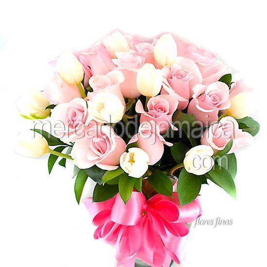 Flores Domicilio Rosas Rosa y Tulipanes Mi Princesa !| Envia Flores