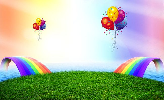 Childrens Day Poster Background Material Balloon Background Rainbow Balloons Balloons