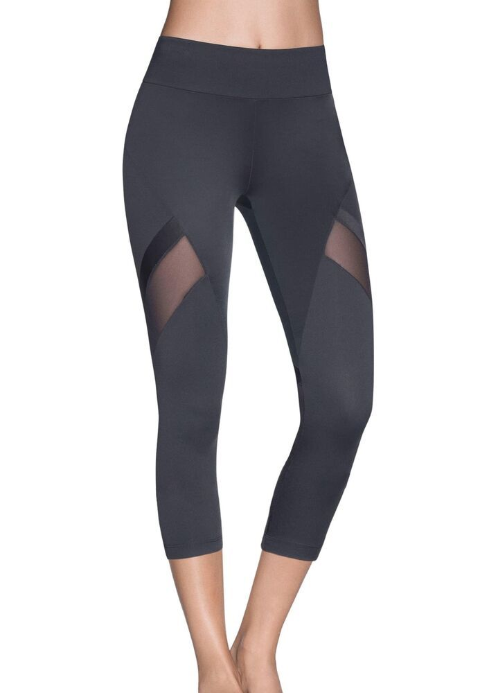 67a1b27eb086e6 (Advertisement)eBay- Maaji NEW Black Womens Size Medium M Mesh Capri  Activewear Leggings
