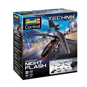 "Revell Control 24711 – Technik RC Helicopter Kit ""Night Flash"" with 2.4 GHz remote control – Remote controlled helicopter for building, easy to assemble, with sturdy metal chassis – RC Kit Night Flash"