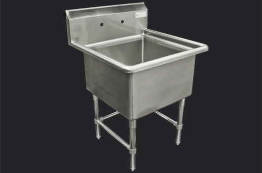 """24"""" Stainless Steel Sink without drainboard Model: TSS-2424-O. Also available in 18"""" model."""