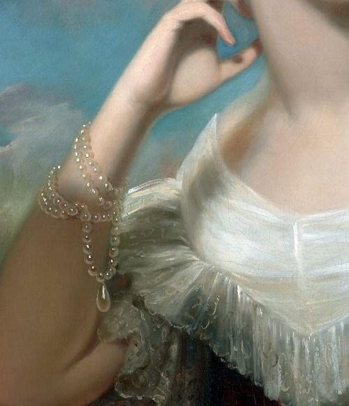 Miss Jane Mercer (Détail) Samuel Bell Waugh 1840