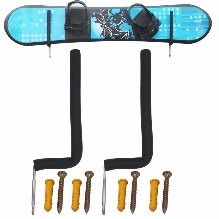 Snowboard Parete Rack di Stoccaggio Snowboard Wall Mount-20 CM Alta-Misura la maggior parte Boards