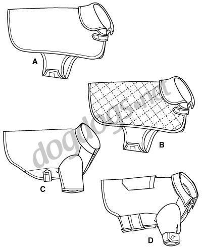 Modelo de molde para costurar roupa para cães de verão.