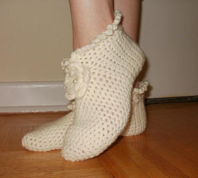 Örgü Bayan Çorap Modeli: Slippers, Patterns Pdf, Crochet Patterns