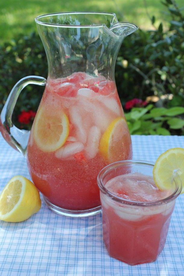 Vodka Watermelon Spritzer...Melissa Schultz, I think we had this yesterday minus the lemon!