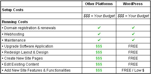 I can get a website made by a professional for $100 and it will cost me another $100 per year for the website to run.