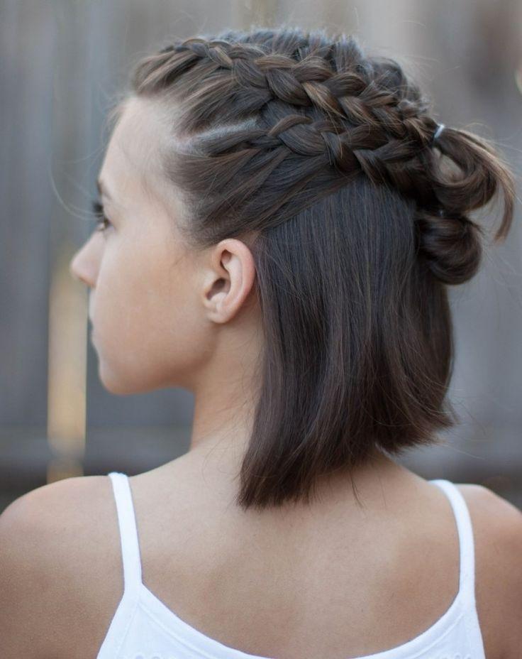 Dirndl Hairstyles Short Hair Braiding #DirndlHairstyleShortHairWeaving – Mode