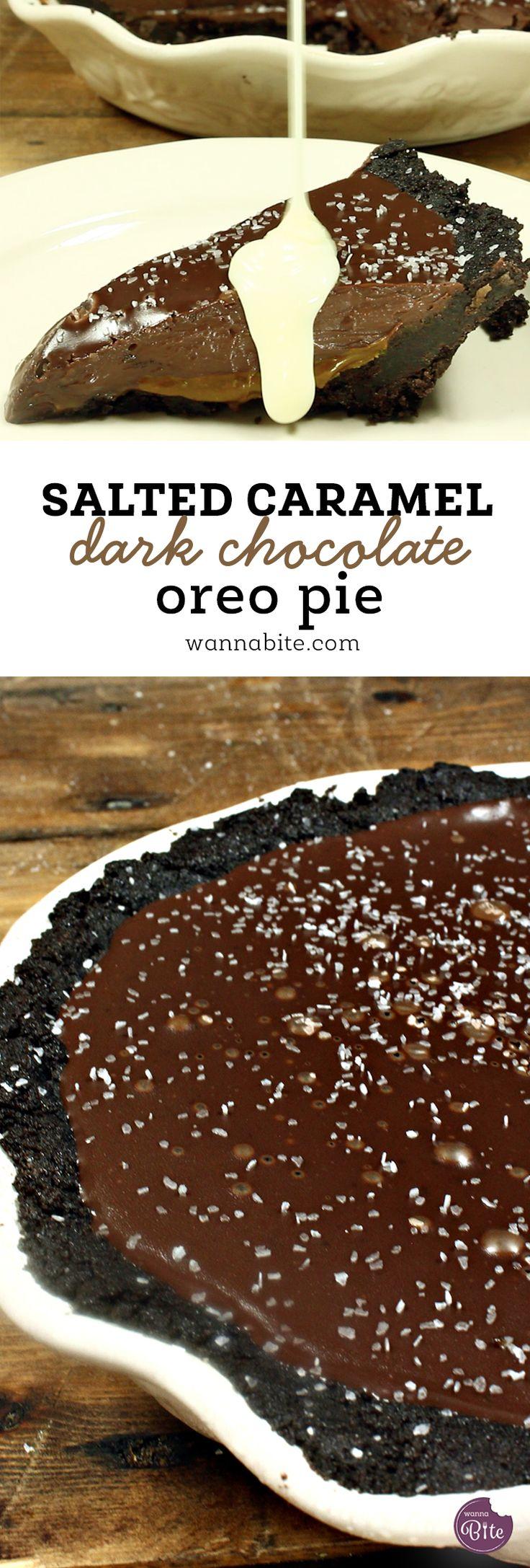 Gesalzene Karamellbitterschokolade Oreo Pie – food