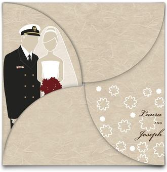 Military Wedding Invites    Substitute Army Uniform