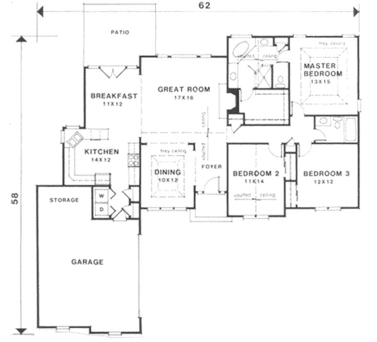 One level house plans on slab for Slab on grade house plans canada