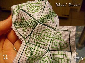 excellent tutorial for constructing 15 sided biscornu. very clear pictures