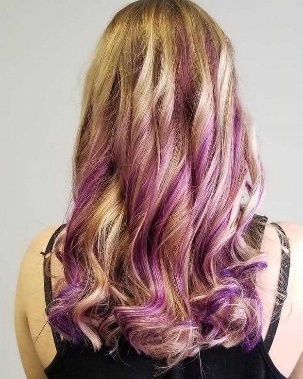 15 Versatile Purple Highlights On Blonde Hair For Women In 2020