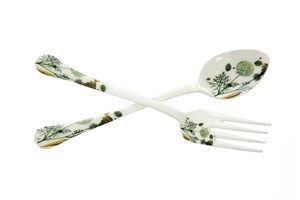 PURCHASED! Botanical Enamel Salad Server Set | The Art of Home $49.95 | 1 Requested | 1 Purchased