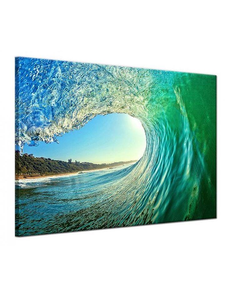 Canvas schilderij Golf en Zee