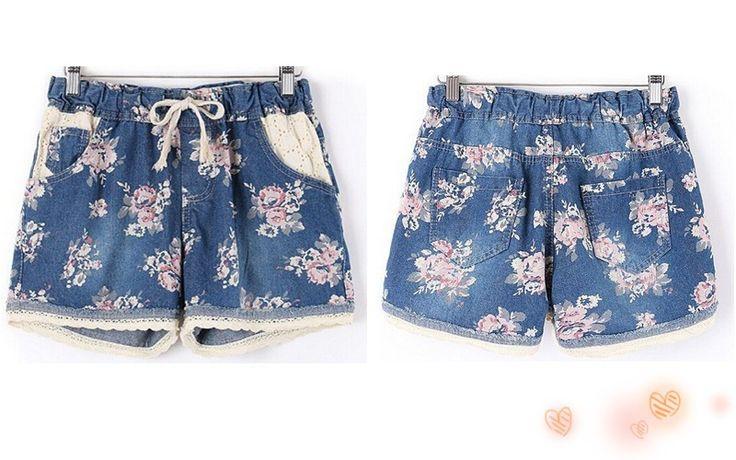 2016 Brand Designer  Women Summer Casual Denim Shorts  With Elastic High Waist…