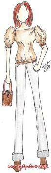 Bluzka z bufkami, wykrój do pobrania on-line. 36-44