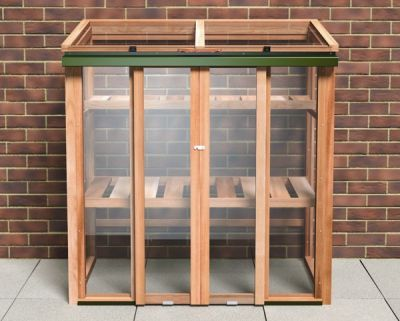 4ft 2in x 2ft 5in Growhouse Cedar Wooden Upright Coldframe