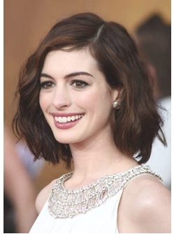 Her hair is more similar to mine, with the amount of body it has. Could go darker with my hair? Dark red?