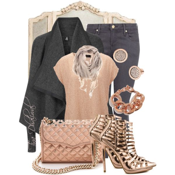 """""""JUST ROSEY"""" by tinadhaliwal on Polyvore dressy jeans outfit"""