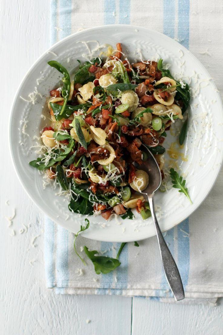 Pancetta and mushroom pasta salad   Fanni & Kaneli