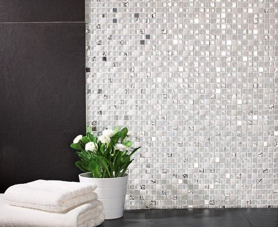 Mineral Diamond White Mosaic Kitchen