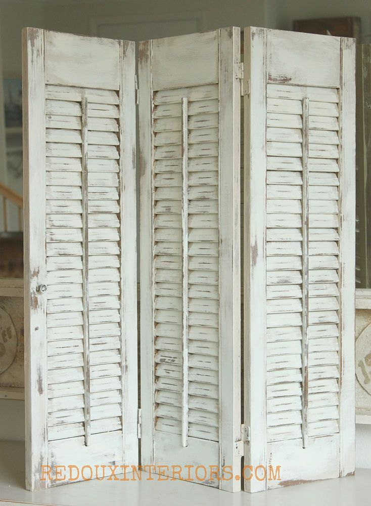 How to Paint Old Shutters and Use for Decor