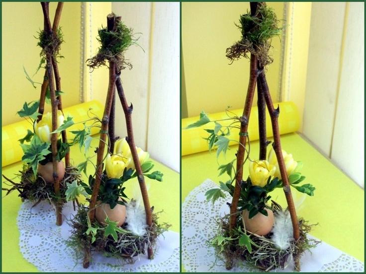 Forage the forest and recycle your eggshells!  .Groszki i róże...: Wielkanocne warsztaty florystyczne #foresteasterbasket www.GoodOldDaysFlorist.com