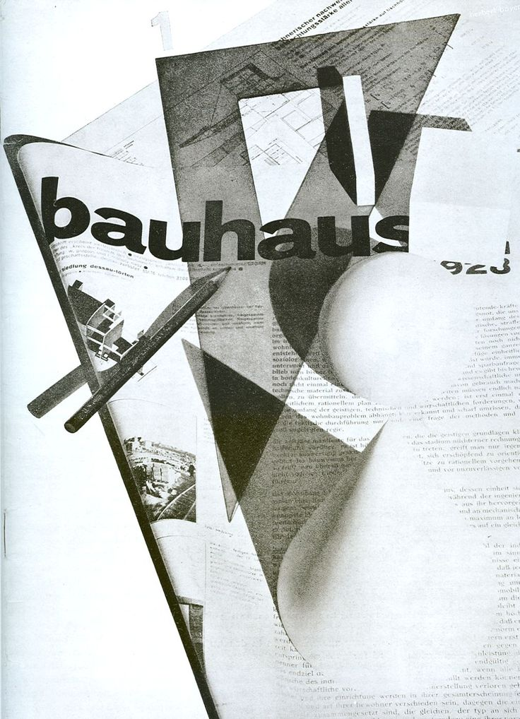 Herbert Bayer,   Bauhaus Magazine Cover,  1928.  Herbert Bayer was widely recognized as the last living member of the Bauhaus.