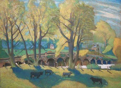 Flesk bridge, Killarney, Kerry by Harry Kernoff