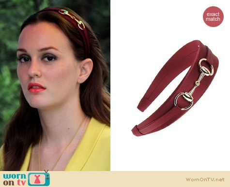 Blair's headband is still available for $54.  It comes in STACKS of colors, this one is 'Silk Charmeuse Burnt Bordeaux'.