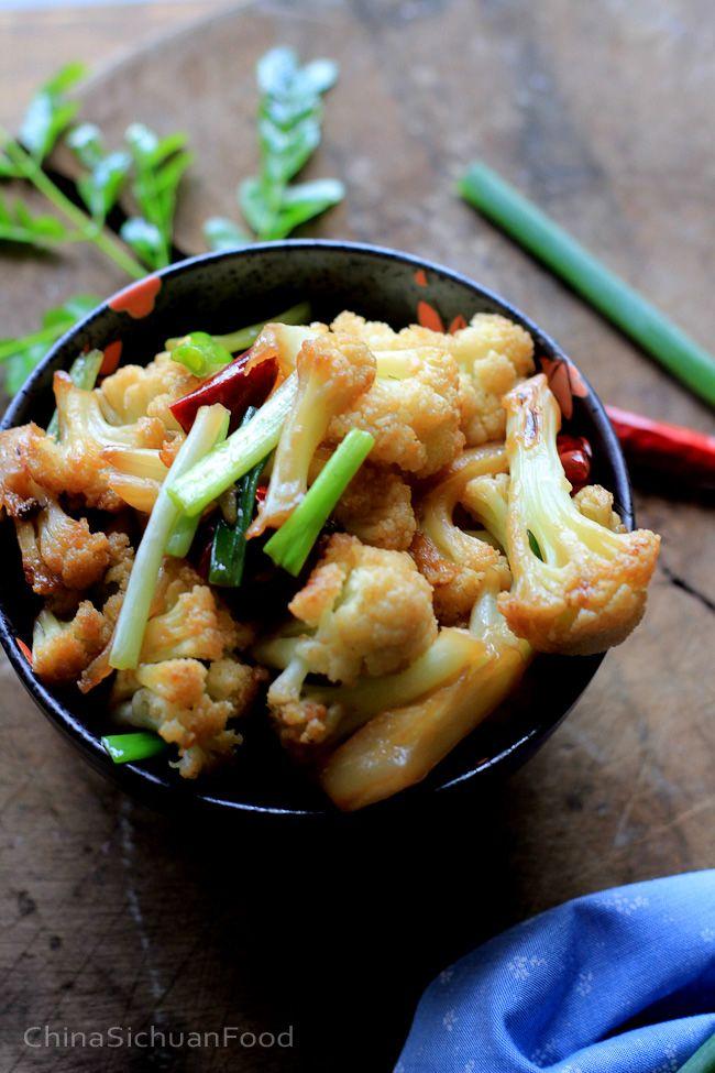 Dry fried Cauliflower—Gan Bian Cauliflower