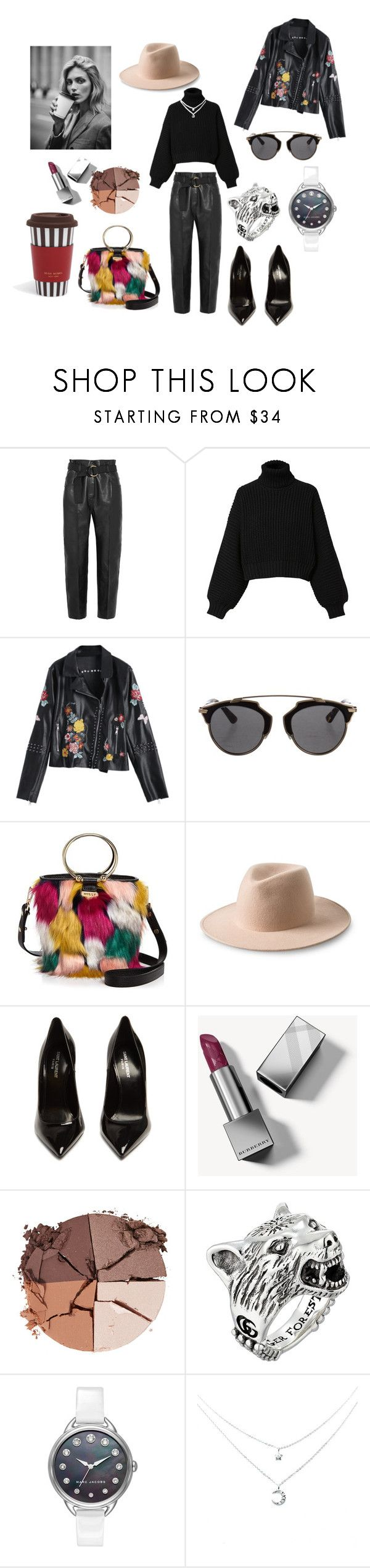 """""""Untitled #344"""" by gloriatovizi on Polyvore featuring Petar Petrov, Diesel, Anja, Christian Dior, Milly, Yves Saint Laurent, Burberry, lilah b., Gucci and Marc Jacobs"""