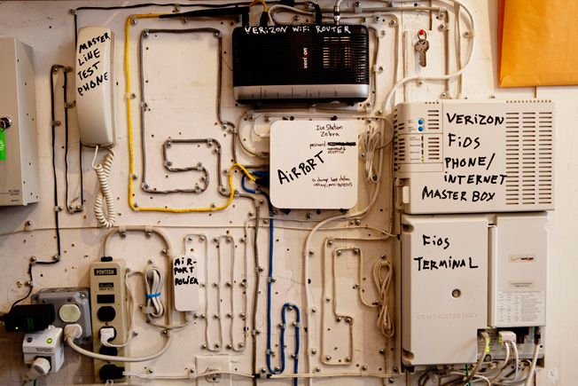 Things Organized Neatly: Wires knolled in Casey Neistat's studio.
