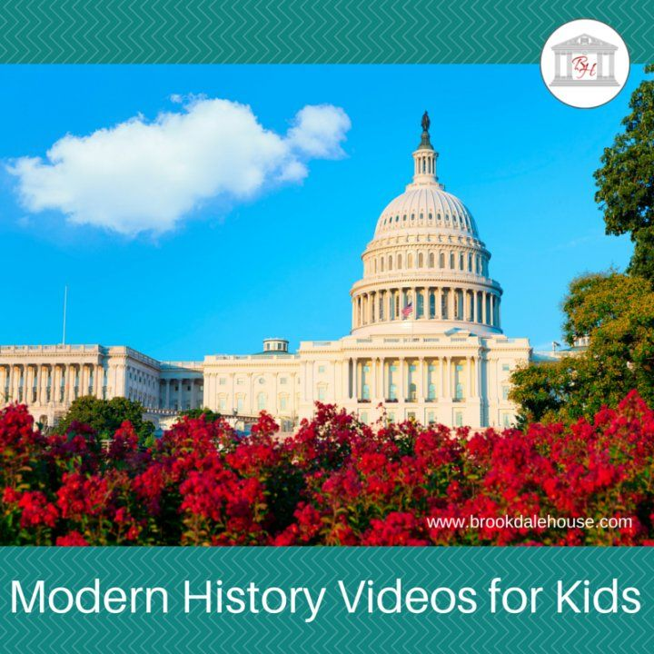 Because modern history videos cover modern history, when movies were available, students can actually see and hear real events as they occurred.