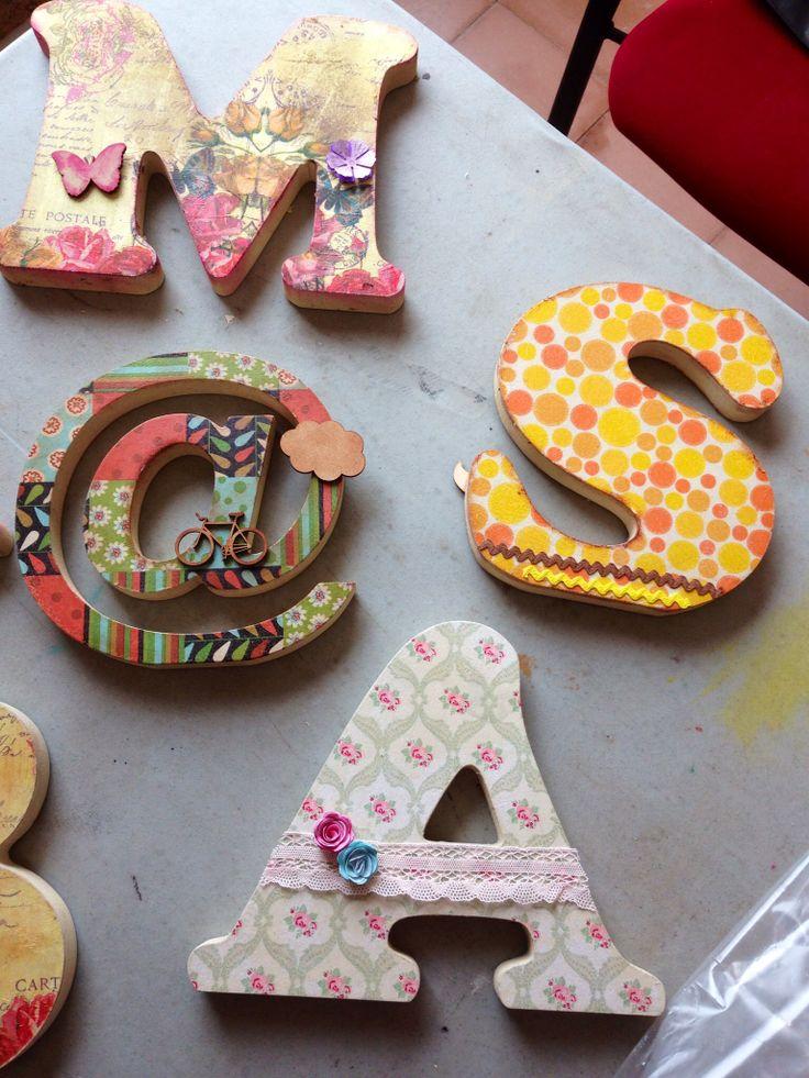 Mas letras decoradas en la feria scrap sitges con rachel saez letras decoradas pinterest - Letras decoradas scrap ...