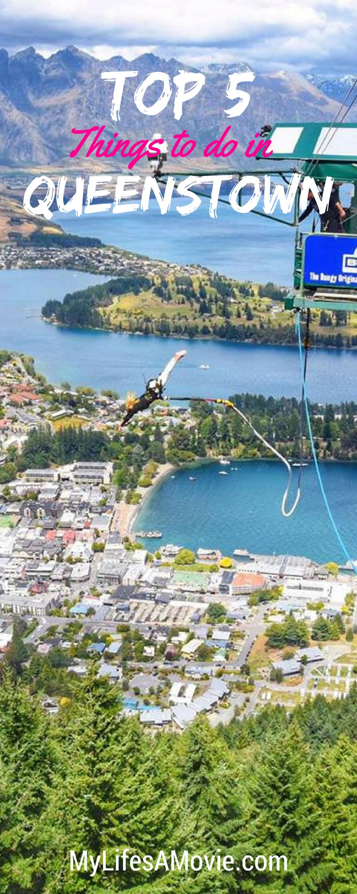 Queenstown is everyone's favorite city in New Zealand, and a must-see if you're visiting! Be sure to check out these 5 best things to do in Queenstown, like bungy jumping, helicopter tours, and even an onsen hot pool!
