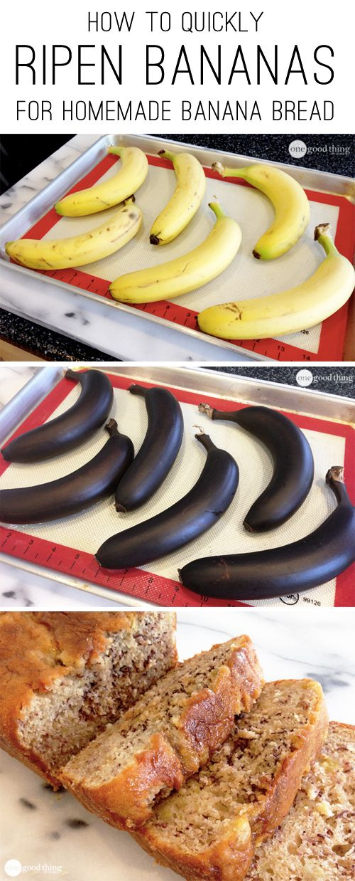 A great cooking hack for the next time you have a craving for homemade banana bread but no overripe bananas on hand!
